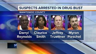 Five arrested on heroin and meth charges in Manitowoc County - Video