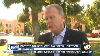 Protest against hotel tax special election