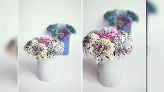 How to make magazine flowers - is it as easy as it looks? - Video