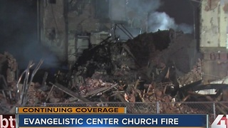 Fire at KC church still burning 30 hours later - Video