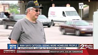 Man says homeless people in Catoosa can cause problems, but one changed his heart - Video
