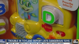 Trouble in Toyland report lists dangerous toys - Video