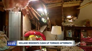 Holland Residents Clean Up Tornando Aftermath - Video