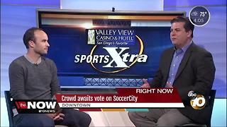 Crowd awaits vote on SoccerCity - Video