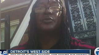 Man shot, killed inside his home on Detroit's west side - Video