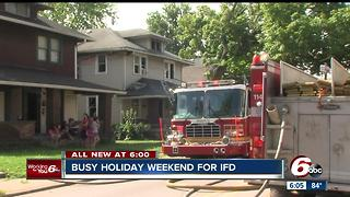 Busy holiday weekend for the Indianapolis Fire Department - Video
