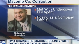 Two charged with taking thousands in bribes in Macomb County - Video