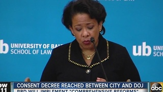 Consent decree reached between Baltimore City and DOJ - Video