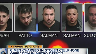 Six men charged in stolen cellphone scam - Video