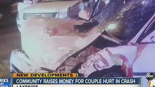 Community raises money for couple hurt in crash - Video