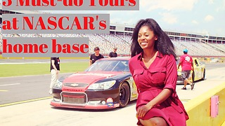 Woman takes amazing tour at NASCAR home base - Video