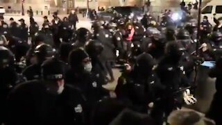 Chaos in NYC - BLM Antifa Rioters Clash with New York City Riot Police