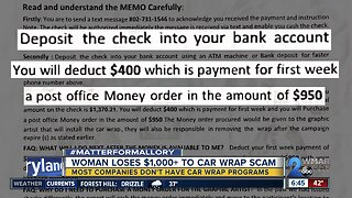 Scammers using car wrap ruse to trick drivers
