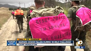 Recon Marines complete grueling 30-mile course while carrying double amputee comrade