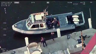 BPD officers rescue dog from freezing water at Inner Harbor