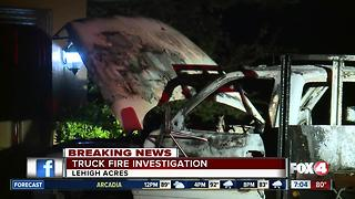 Lehigh Acres Truck Fire Investigation - Video