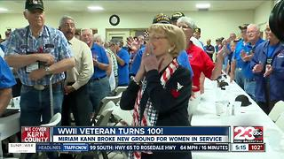WWII veteran celebrates 100th birthday - Video