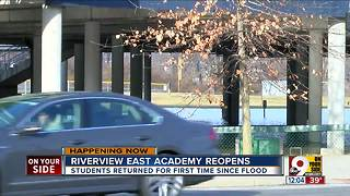 Riverview East Academy reopens after Ohio River flooding - Video