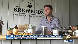 Popularity of pot infused products growing - Video