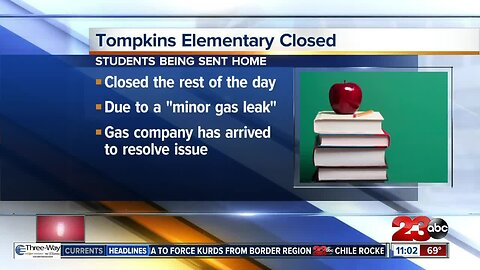 Tompkins Elementary Closed Due to Gas Leak