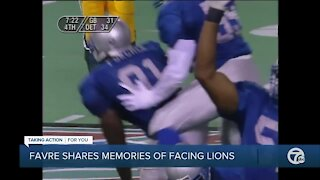 Brett Favre shares memories of facing Lions