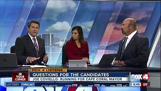 Joe Coviello Cape Coral mayor candidate answers viewer questions - Video