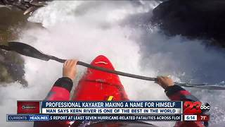 Local kayaker making a name for himself on professional scene