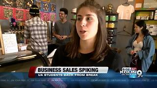 Businesses along University Blvd. seeing increase in sales as students return from break - Video
