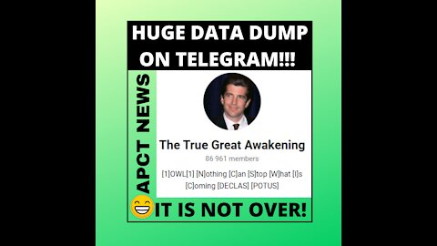 HUGE DATA DUMP ON TELEGRAM! IT IS NOT OVER! THE LIGHT WILL DEFEAT THE DARK!