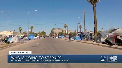 Petition calls for Phoenix leaders to address homeless camps