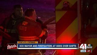 KCK Mayor says firefighter threatened him - Video
