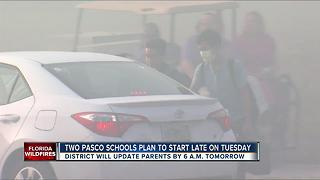 Two Pasco schools plan to start late on Tuesday - Video