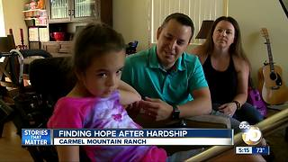 Girl finding hope after hardship - Video