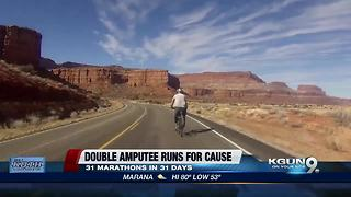 Double-amputee marathoner stops in Phoenix for run - Video