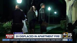 FD: 20 people displaced after Phoenix apartment fire - Video