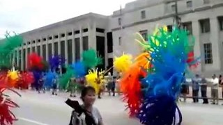 Performers on Stilts March for Pride Parade in St. Louis - Video