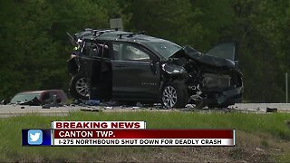 Canton Twp. man killed in crash on I-275 near Ford Rd.; highway closed