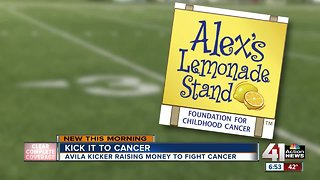 Avila kicker combines football and fundraising to fight childhood cancers