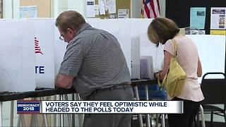 Metro Detroit voters say they're optimistic while headed to the polls - Video