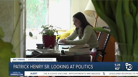 Back to school: Patrick Henry High senior hopes for political career