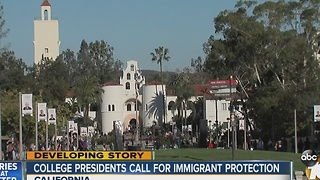 College presidents call for immigrant protection for students - Video