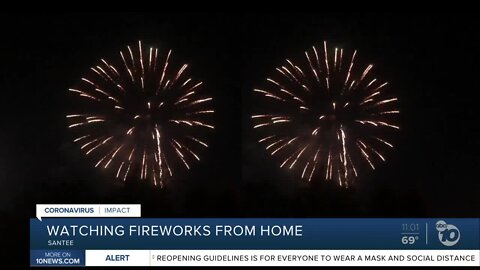 Santee fireworks delight San Diegans at home