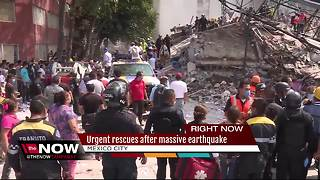 Mexicans dig through collapsed buildings as powerful magnitude 7.1 earthquake kills 217 - Video