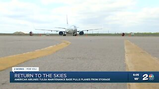 American Airlines Tulsa team pulls planes from storage