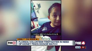 Volunteer firefighter in need of kidney finds donor match - Video