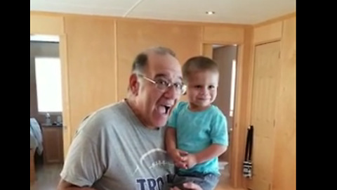 Adorable Toddler Has A Priceless Reaction When He Realizes It's Not His Birthday
