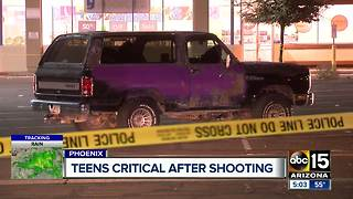 Teens in critical condition after Phoenix shooting - Video
