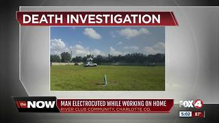 Man electrocuted while working on home - Video