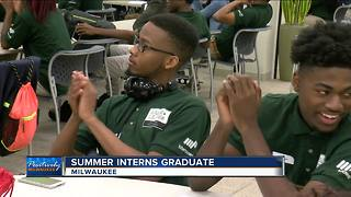 Summer city government interns graduate - Video
