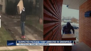 Greenfield Police link package thief caught on camera to other crimes